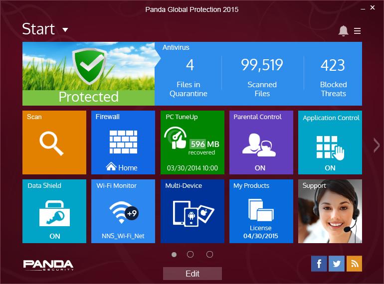 Panda Global Protection screen shot