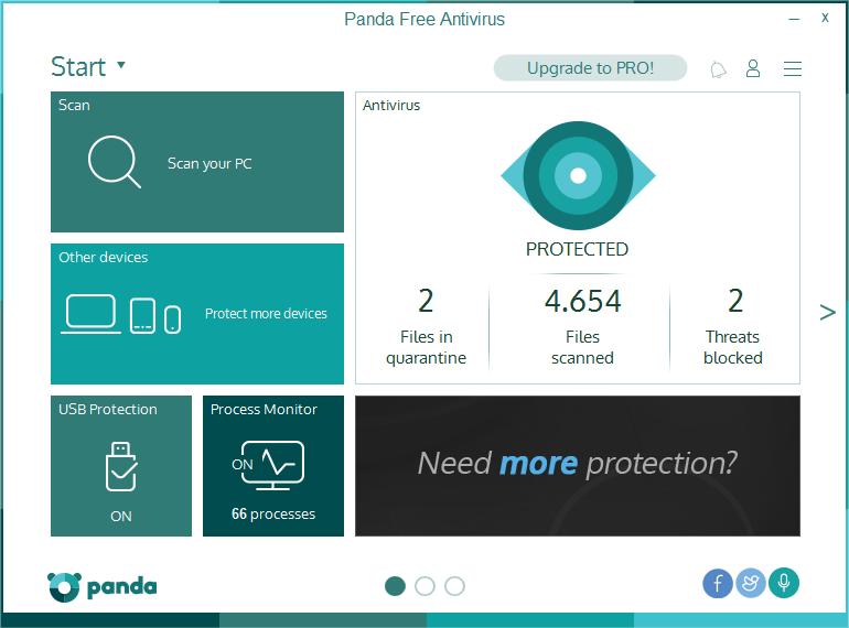 Panda Antivirus Free Screen shot