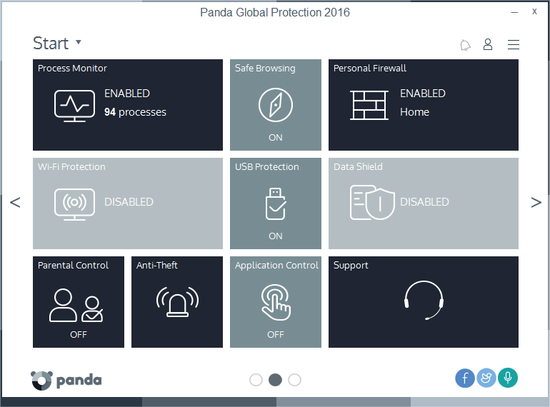 Panda Global Protection 2016. Protect your privacy and keep your devices under c easy Screen Shot
