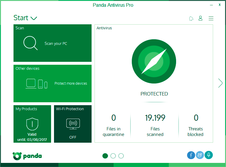 Click to view Panda Antivirus Pro screenshots