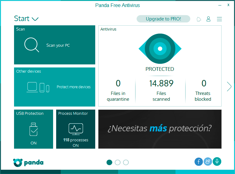 Click to view Panda Antivirus Free screenshots