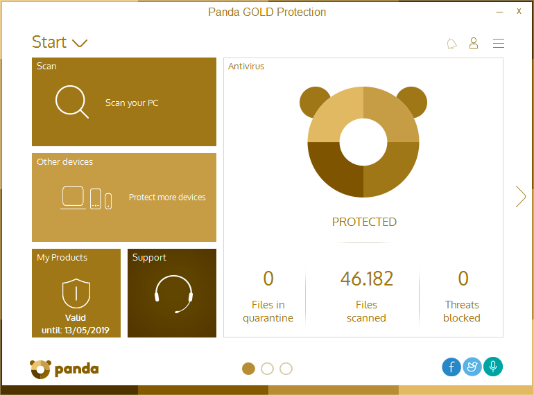 Panda Gold Protection Screen shot