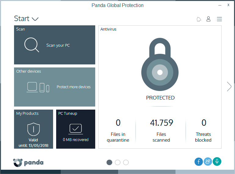 Click to view Panda Global Protection screenshots