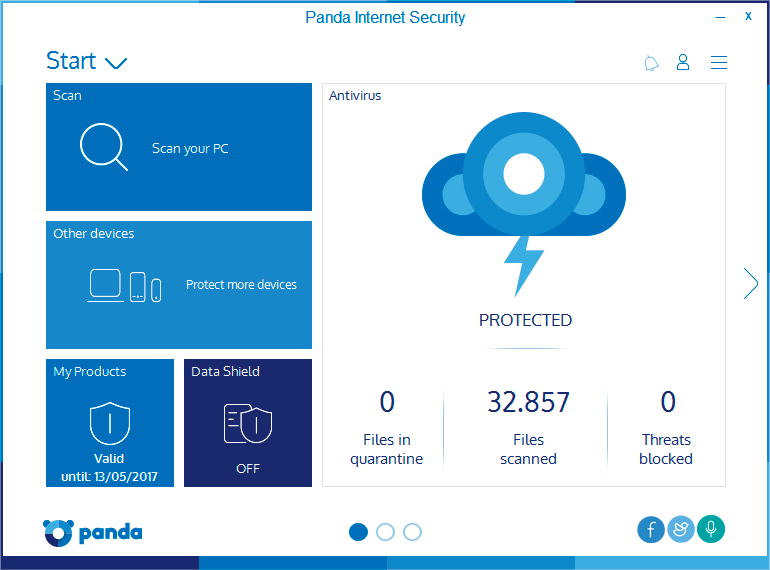 Panda Internet Security full screenshot